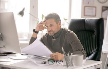 Man asking himself what to do after being served divorce papers