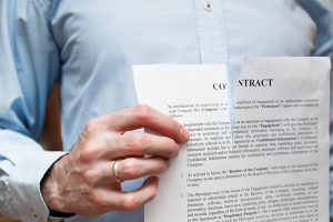 Image of a torn contract