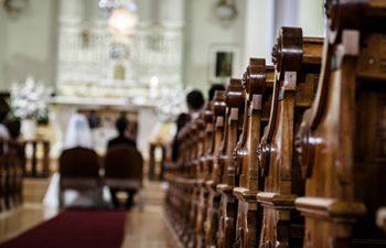 Wedding inside of a church