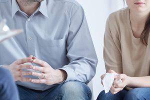 A couple in divorce mediation in Georgia